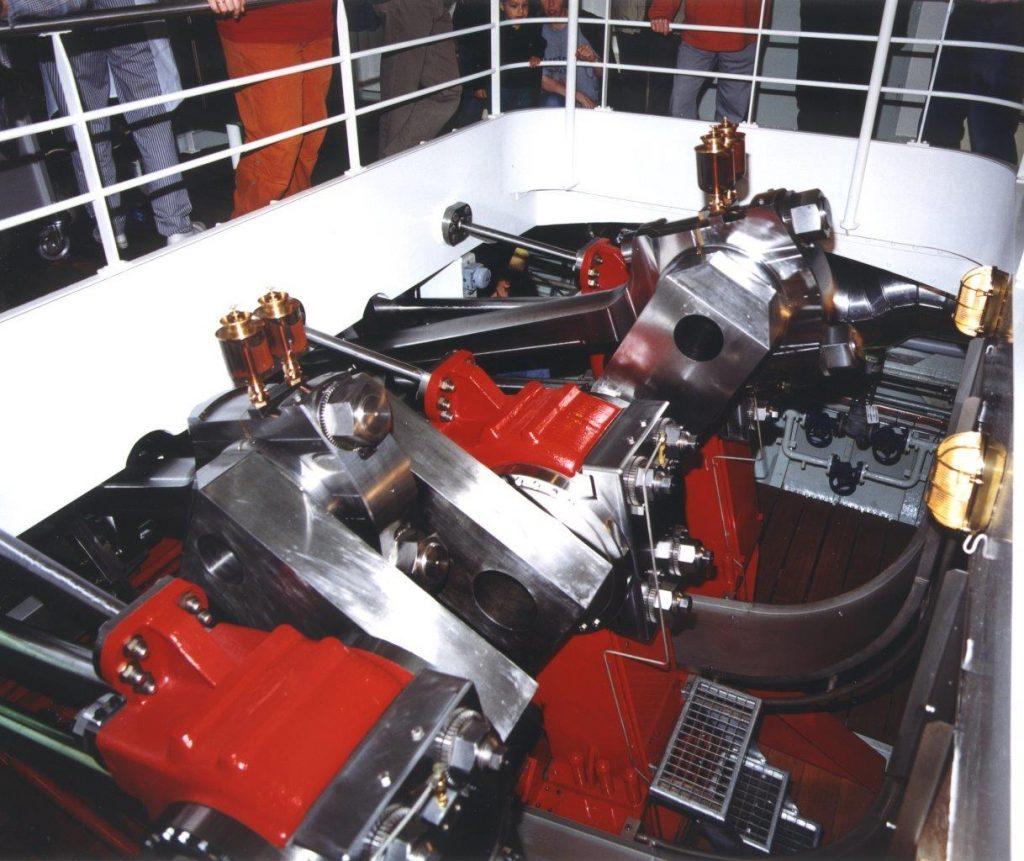 Die neue Dampfmaschine des DS Montreux. Foto Robert Horlacher
