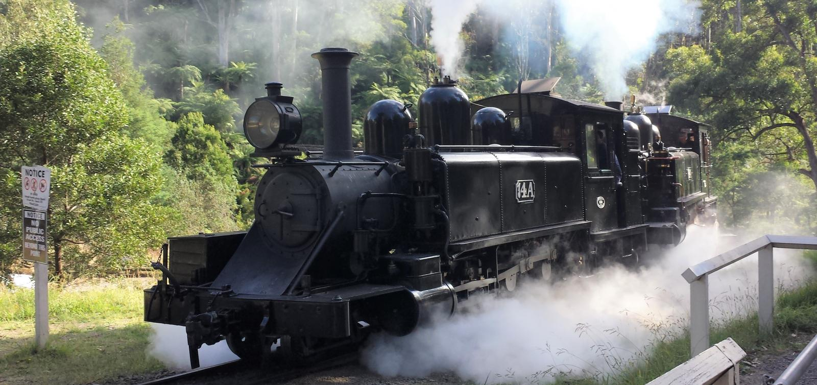 20180222_095752_Puffing Billy_14A (oil-fired) + 8A_2018_02_22_Photo Roger Waller_1600Hero_Roger_Edit_