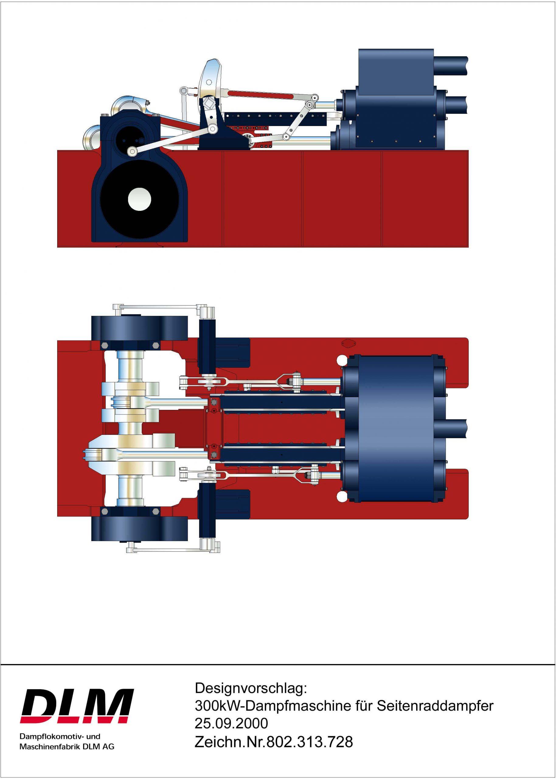 Dampfmaschine 300kW_Raddampfer