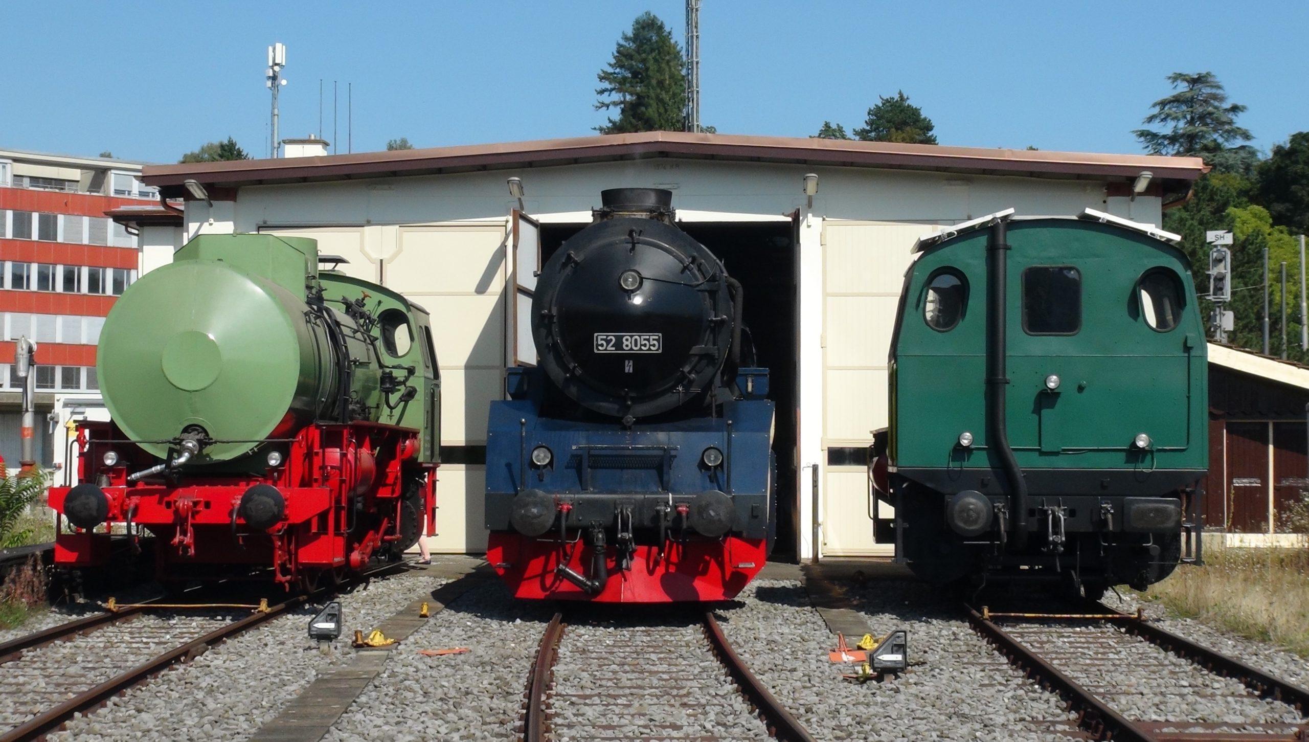 52 8055 DLM_2021-09-04_DSC09740_mit 2 Speicherlokomotiven FLC 03_Depot Schaffhausen_Foto Roger Waller (003)